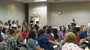 Medical Assisting Degree Greeley students eagerly await the awards assembly.