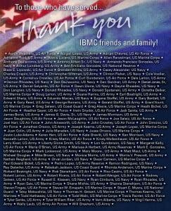 IBMC celebrates Veterans Day